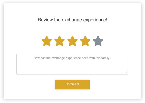 screenshot of the application in Review the exchange experience